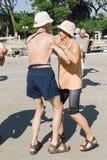 22 settembre 2011, concorrenza di ballo e di musica in Croazia, Hvar Immagini Stock Libere da Diritti