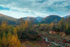 Settembre dorato nelle montagne Immagine Stock Libera da Diritti