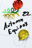 22 settembre equinozio di autunno Fotografia Stock