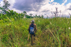 3 settembre 2014 - guida di safari dentro del parco nazionale di Chitwan, N Immagine Stock Libera da Diritti