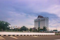 25 settembre 2014: Hotel a Vientiane, Laos Fotografia Stock