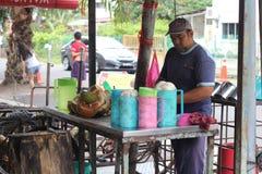 27 settembre 2016, il Malacca, Malesia La scossa della noce di cocco di Klebang era al giorno d'oggi la bevanda più calda in mela Fotografie Stock