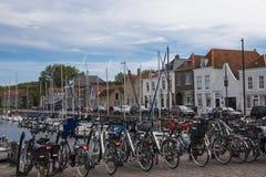 28 settembre 2017: Il porto interno della città storica Zier Fotografie Stock
