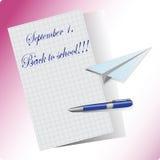 1° settembre Illustrazione di vettore con testo illustrazione di stock