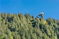 14 settembre 2018 - Juneau, Alaska: Skybridge in cima al supporto Roberts Tram immagine stock libera da diritti