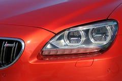 26 settembre 2016, Kiev BMW M6 Fari dell'automobile Fari di lusso immagine stock libera da diritti