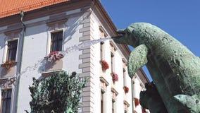Settembre 2018 la repubblica Ceca Fontana di Arion sul quadrato superiore in Olomouc video d archivio