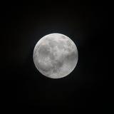 16 settembre 2016 lunare, fine sulla luna piena che mostra il dettaglio del cratere Fotografia Stock Libera da Diritti