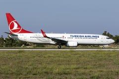 3 settembre 2015, Luqa, Malta: Turco 737 Fotografia Stock
