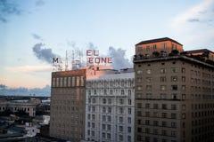 Settembre 2016: Orizzonte di New Orleans, hotel Monteleone immagini stock libere da diritti