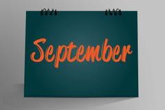 Settembre scritto in calendario da tavolino illustrazione vettoriale