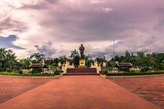 20 settembre 2014: Statua di presidente Souphanouvong in Luang P Immagini Stock Libere da Diritti