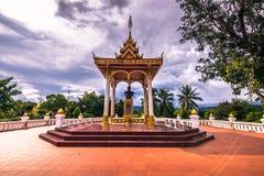 20 settembre 2014: Statua nei giardini di Luang Prabang, Laos Fotografie Stock Libere da Diritti