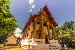 20 settembre 2014: Tempio buddista in Luang Prabang, Laos Fotografie Stock Libere da Diritti