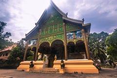 25 settembre 2014: Tempio buddista a Vientiane, Laos Fotografia Stock