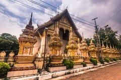 26 settembre 2014: Tempio buddista a Vientiane, Laos Fotografia Stock