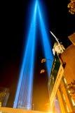11 settembre tributo in New York luminoso Immagini Stock Libere da Diritti