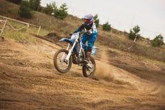 24 settembre 2016 - Volgsk, Russia, corsa trasversale di moto del MX - bici della sporcizia di enduro Fotografia Stock