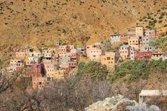 Setti Fatma - by i kartbokmoutains Marocko Royaltyfria Bilder