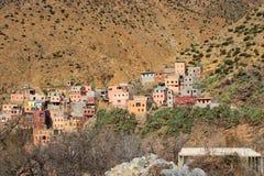Setti Fatma - by i kartbokmoutains Marocko Arkivfoton