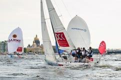 Settimana baltica dell'yacht Classe J70 dell'yacht dei concorsi immagine stock libera da diritti