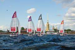 Settimana baltica dell'yacht Classe J70 dell'yacht dei concorsi immagini stock libere da diritti