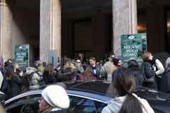 Settimana di modo di Milano Fotografie Stock