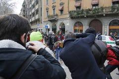 Settimana di modo di Milano Fotografia Stock