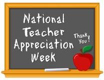 Settimana nazionale di apprezzamento dell'insegnante Fotografia Stock Libera da Diritti