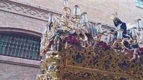 Settimana santa di Cadice, passione di Cristo stock footage