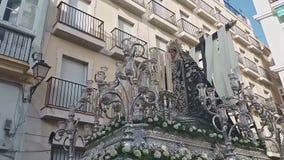 Settimana santa di Cadice, vergine di solitudine archivi video