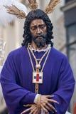 Settimana santa nel prigioniero di Siviglia Gesù e salvata Immagine Stock Libera da Diritti
