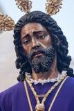 Settimana santa nel prigioniero di Siviglia Gesù e salvata Fotografie Stock Libere da Diritti