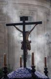 Settimana santa in Siviglia, fratellanza degli studenti Fotografie Stock