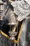 Settimana santa in Siviglia, incenso Immagini Stock Libere da Diritti