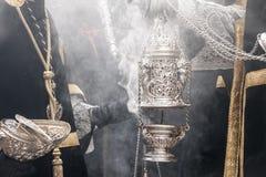 Settimana santa in Siviglia, incenso Fotografia Stock Libera da Diritti