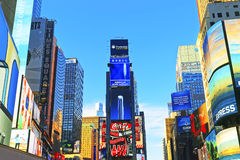 settimi grattacieli di Broadway e del viale sul Times Square Immagini Stock