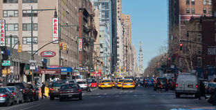 settimi Viale New York City Fotografia Stock