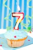 Settimo compleanno del ragazzo Fotografia Stock Libera da Diritti