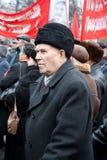 settimo della dimostrazione del comunista di novembre Fotografie Stock