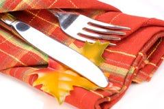 Settin della tabella di pranzo di tema di caduta Immagini Stock