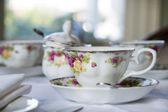 Setting for afternoon tea Royalty Free Stock Photos
