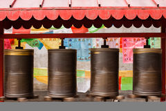 Setting all the prayer wheels turning Royalty Free Stock Photos
