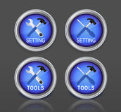 Setting buttons colorful Royalty Free Stock Photography