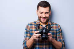 Setting the camera. Royalty Free Stock Photo