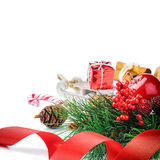 Setting with Christmas decorations Stock Image