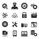 Setting, configuration, Set up, Repair , Tuning icon set Stock Images