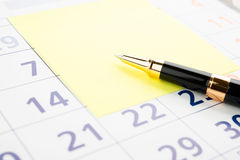 Setting a date Stock Images
