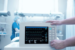 Setting equipment in the intensive care Stock Photography