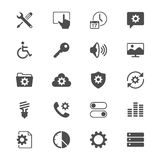 Setting flat icons. Simple, Clear and sharp. Easy to resize Royalty Free Stock Photography